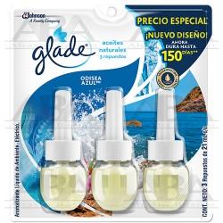 Glade® Aceites Naturales Repuesto 3 pack Odisea Azul™