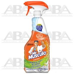 Mr Músculo® Cocina Limpieza poderosa aroma limón 650 ml.