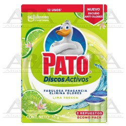 Pato® Discos Activos Repuesto Fresca Lima con tecnología Anti Olores 76 gr.