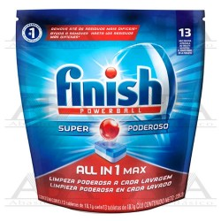 Finish® Detergente Powerball Para Lavavajillas 13 Tabletas