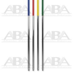 Bastón de aluminio con forrado plásico en código de color Cisne®